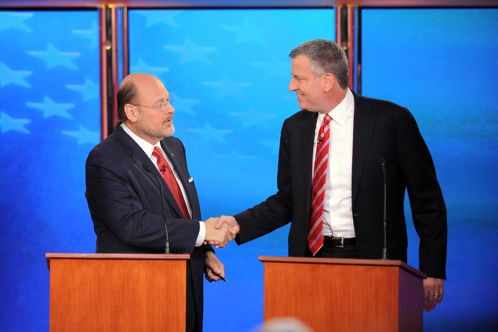 De Blasio and Lhota Rehash Old Arguments in Final Debate