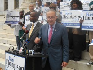 Senator Chuck Schumer endorsed Ken Thompson today.