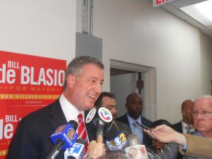 Bill de Blasio today.