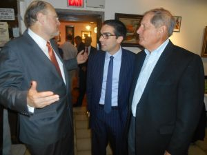 Joe Lhota with Councilman Eric Ulrich and ex-Congressman Bob Turner.