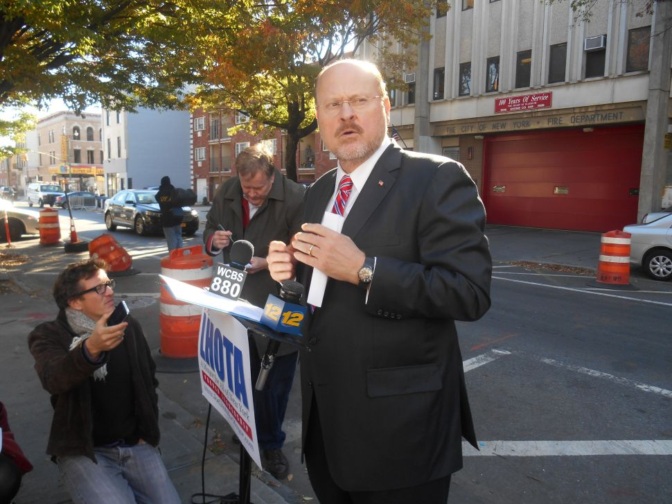 Lhota Says He 'Absolutely' Fears for His Personal Safety if de Blasio Wins