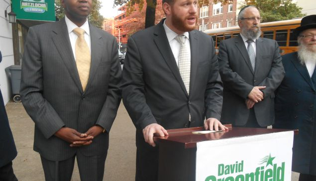 Councilman David Greenfield endorsing Ken Thompson.