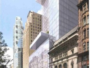The LPC concluded that the cantilever would detract from 215 West 57th Street.