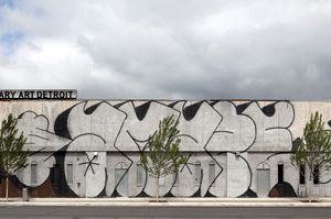 MOCAD's exterior, with 'Untitled' (2006), by Barry McGee. (Photo by Corine Vermeulen/MOCAD)