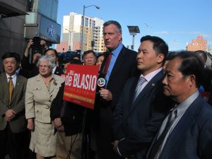 """""""Team Flushing"""" in Queens today."""