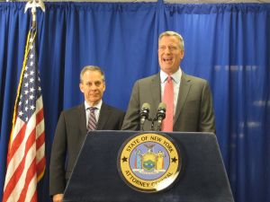 Bill de Blasio and Attorney General Eric Schneiderman.