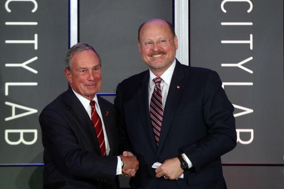 Mayor Bloomberg Praises Both Men Vying to Succeed Him
