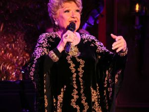 Marilyn Maye holds court at 54 Below. (Photo by Stephen Sorokoff)