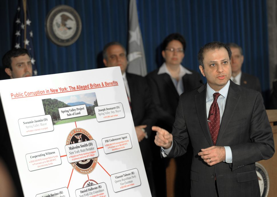 'Culture Matters' and 'Legislatures Actually Matter,' Says Bharara in Push for Reform