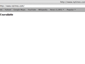 New York Times website outage