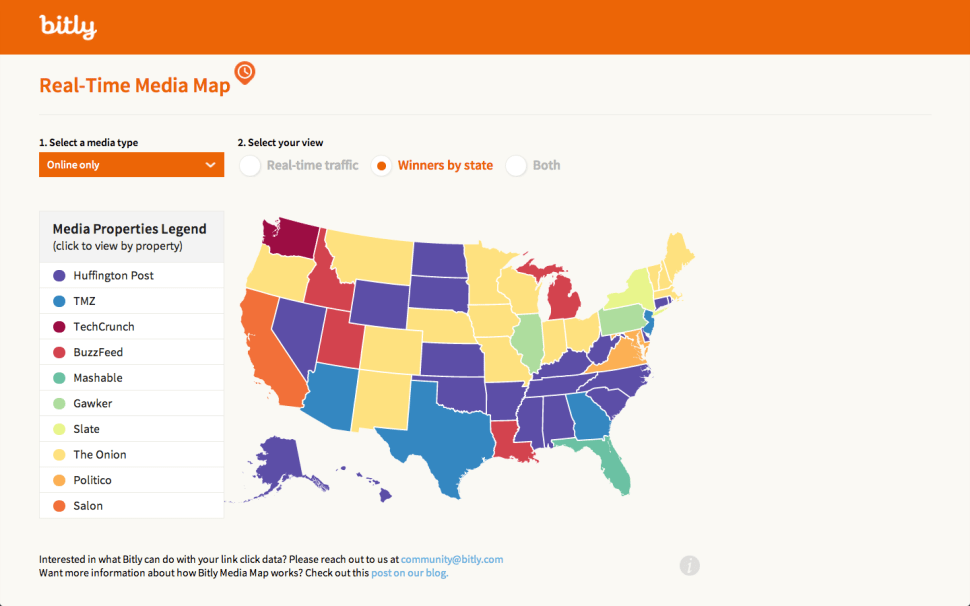 Bitly's Interactive Media Map Will Probably Surprise You