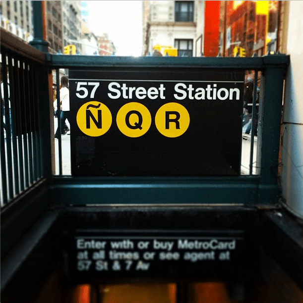 The Ñ Train Is the Best Subway Prank Ever