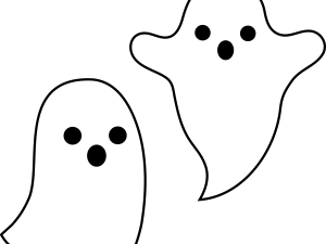 Spooky ghosts.