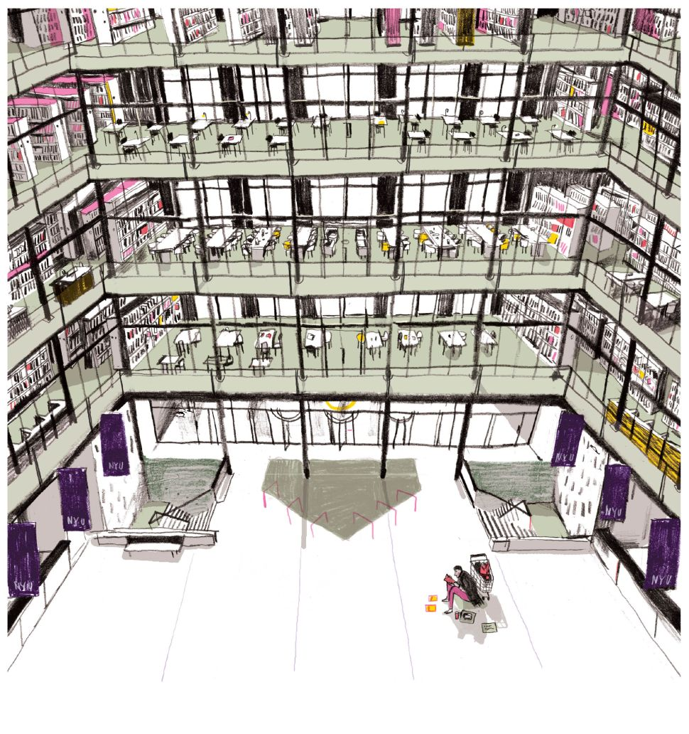 The New Homeless: Inside the Accidental Dormitory That Is NYU's Bobst Library