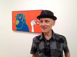 Wirsum with 'Hollow Swallow,' 2010. (Courtesy Derek Eller Gallery)