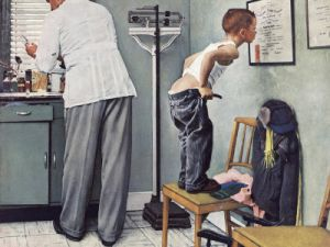 'Before the Shot' (1958) by Norman Rockwell.