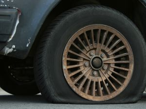 A random flat tire, probably not Peter Vallone's. (Photo: Wikimedia/Ildar Sagdejev)