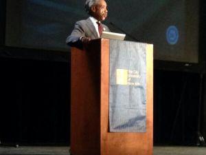 Al Sharpton speaking earlier today.
