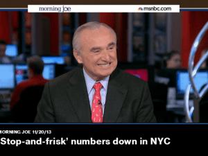 Bill Bratton on MSNBC today.