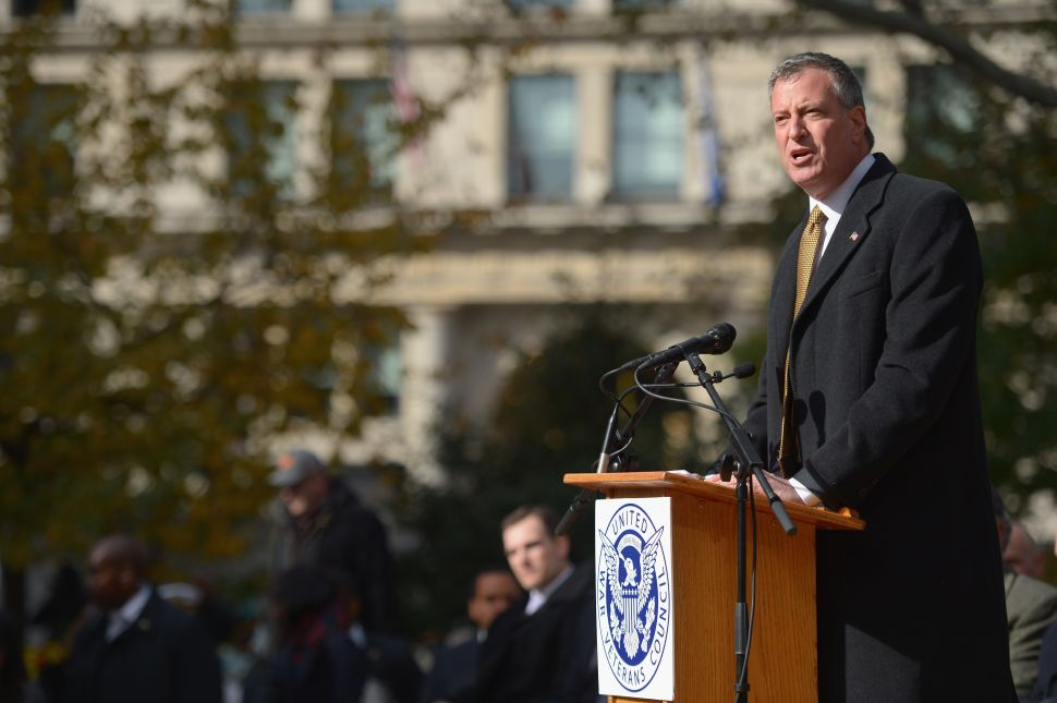 History Suggests Most of Bill de Blasio's Hires Will Come After Christmas