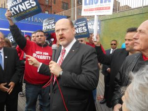 Joe Lhota at the Brighton Beach rally today.