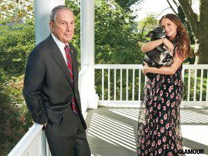 Michael and Georgina Bloomberg. (Photo: Marcus Mam courtesy of Glamour)