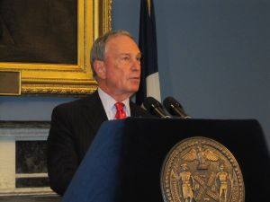 """Mayor Michael Bloomberg described the move as """"historic."""""""