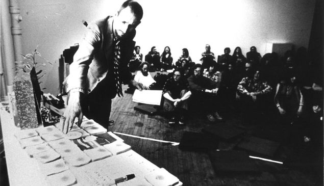 Jack Smith during his performance. (Photographer unknown/Artists Space)