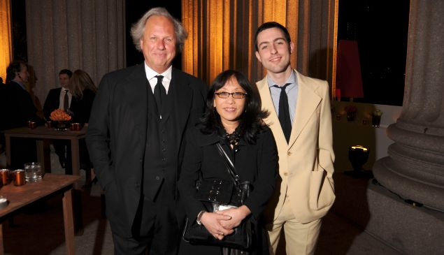Michiko Kakutani, flanked by Graydon and Ash Carter.