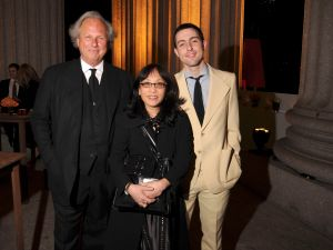 Michiko Kakutani, flanked by Graydon and Ash Carter.