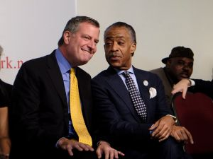 Mayor Bill de Blasio and Rev. Al Sharpton.