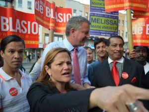 Councilwoman Melissa Mark-Viverito with Bill de Blasio. (Photo: Friends of Melissa 2013)