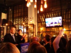 Scott Stringer addressing his supporters. (Photo: Twitter/@audreygelman)