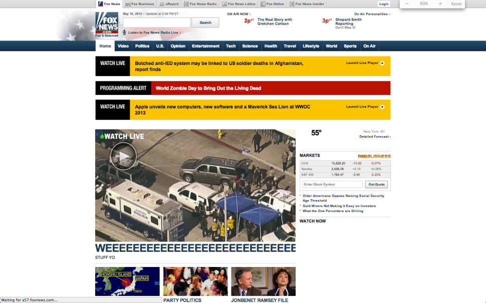 What Was Going on With Foxnews.com?