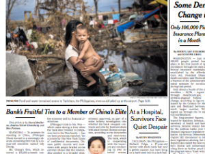 ovember 14, 2013 New York Times front page