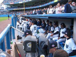 The Yankee dugout.