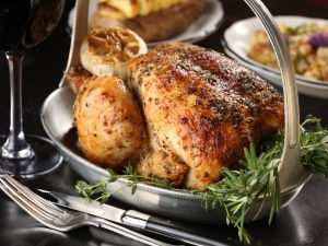 A great roast chicken must have crisp skin and moist meat.