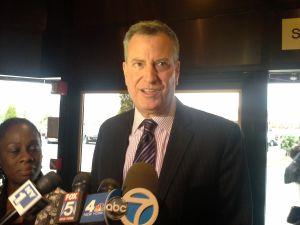 Mayor-elect Bill de Blasio today.