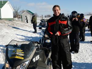 Andrew Cuomo and his snowmobile. (Photo: Flickr/@governorandrewcuomo)