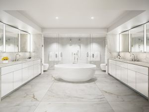 Master bath, or ice-skating rink?