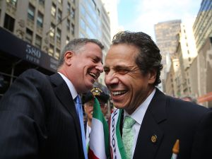Bill de Blasio and Andrew Cuomo. (Photo: Spencer Platt/Getty)