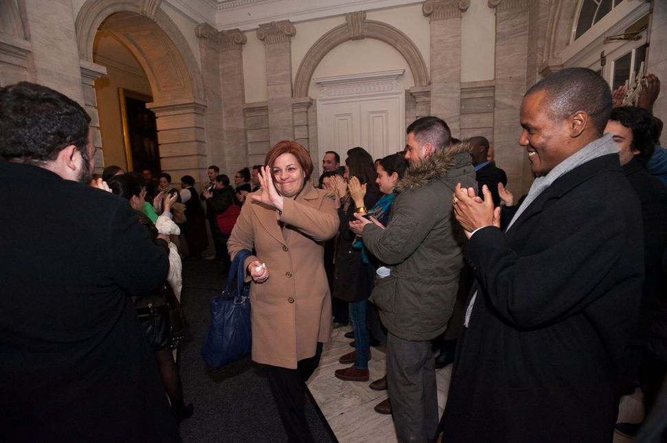 Christine Quinn Bids Emotional Farewell to City Hall After Difficult Year