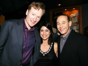 Conan O'Brien, Caroline Hirsch, Paul Reuben (Patrick McMullan)