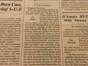 Peter W. Kaplan's column, in the Oct. 19, 1992 edition of the Observer.