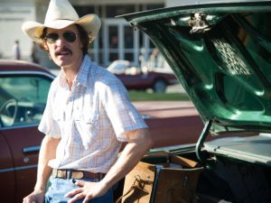 Matthew McConaughey as Ron Woodroof in Dallas Buyers Club.