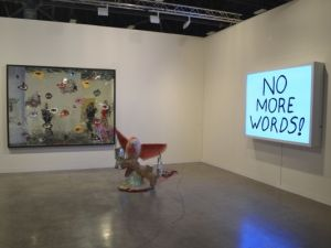 Sadie Coles HQ's booth at Art Basel in Miami Beach. (Photo by The New York Observer)