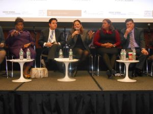 Several of the candidates for council speaker met a forum at New York Law School last night.