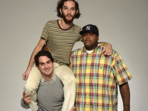 From left to right: Benny Safdie, Josh Safdie and Lenny Cooke.