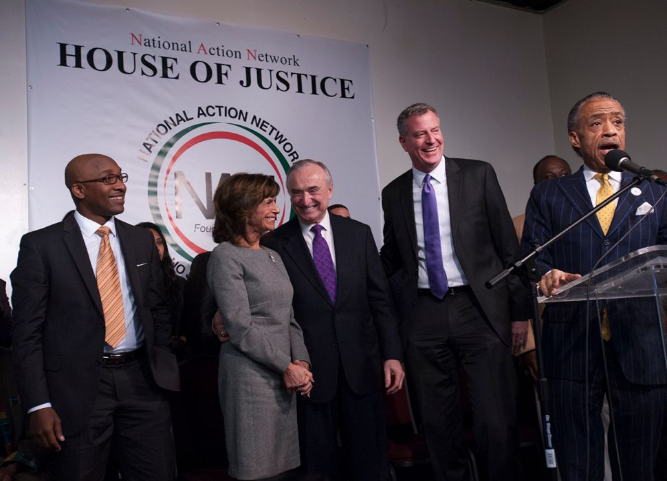 In Sharpton's House, Bratton Vows to 'Practice What Mandela Preached'