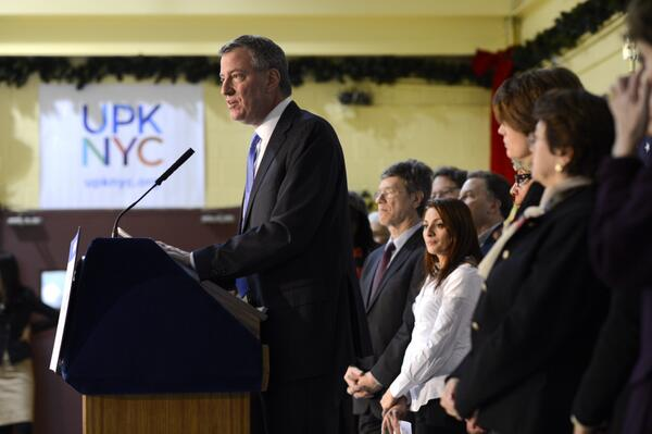 Bill de Blasio Launches Star-Studded Campaign for Universal Pre-K [Update]